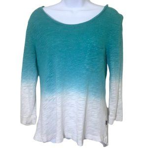 Z by Zobha Ombre Mixed Material Athleisure Sweater